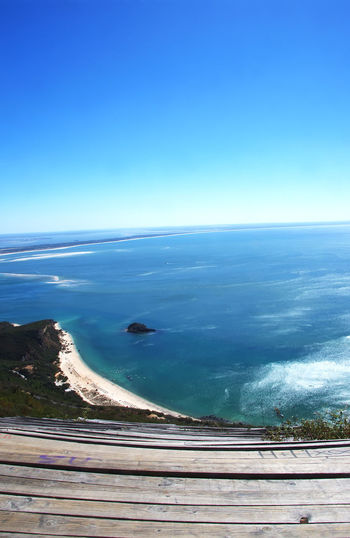 view of the National Park Arrabida in Setubal,Portugal Beach Blue Clear Sky Horizon Horizon Over Water Nature Scenics - Nature Sea Sky Tranquil Scene Tranquility Water