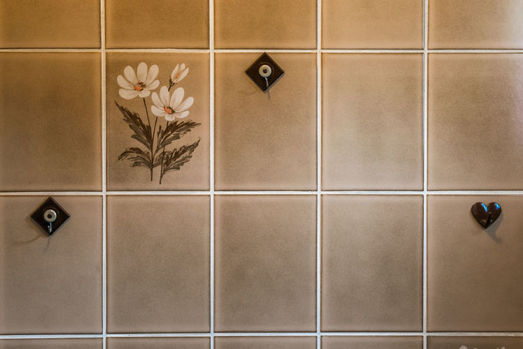 Digital composite image of tiled wall