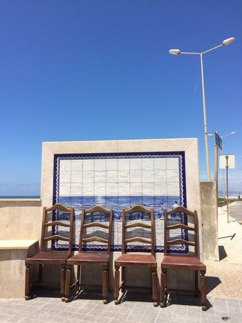 2016 Blue Sky Chairs Four Chairs No Clouds Deep Blue Sky