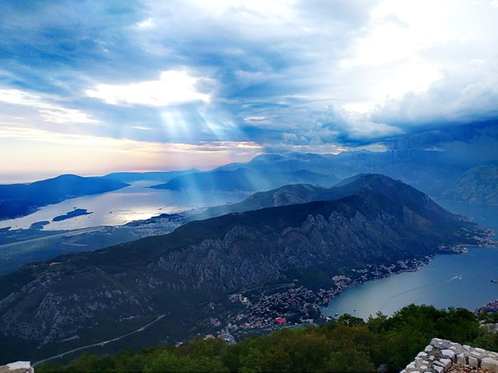 Beauty In Nature Nature Sea Blue Sky Europa Mountain Adriatic Sea Montenegro Kotor Bay City First Eyeem Photo