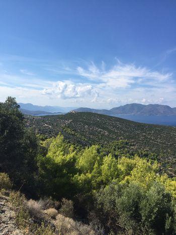 Landscape on Poros Greece