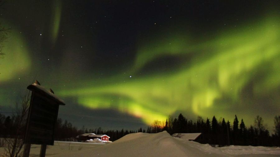 Aurora Borealis Aurores Boréales Suède Sweden Hiver Laponia Lapland Laponie Night Rajamaa