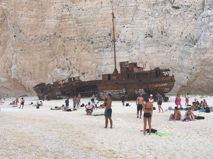 Zante Navagio Beach Group Of People Large Group Of People Crowd Real People Architecture Women Built Structure Moments Of Happiness