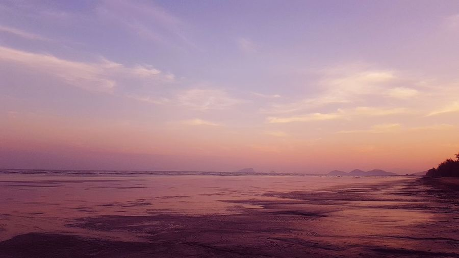 Pink beach for the pink soul Rainbow Pi Nk Water Sea Sunset Beach Wave Sand Blue Low Tide Sun Sky
