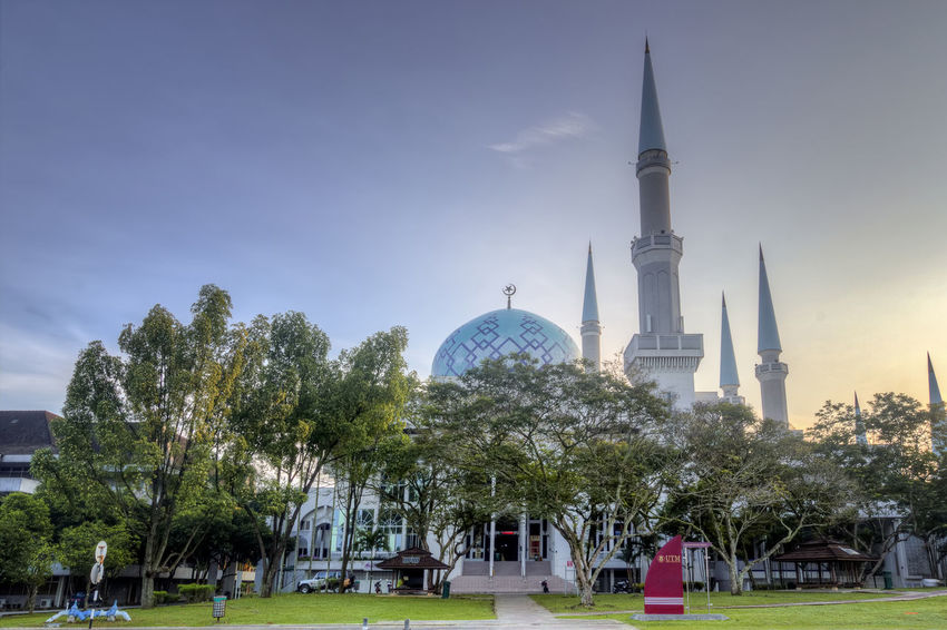Architecture Built Structure Business Finance And Industry City Day Dome No People Outdoors Place Of Worship Religion Sky Tranquility Travel Travel Destinations Tree Universiti Teknologi Malaysia Utm Utmjb
