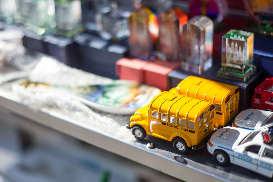 Little Souvenir in NYC Car Depth Of Field Gift Glass Miniture Photogrpahy School Selective Focus Souvenir Souvenirs Toy Yellow