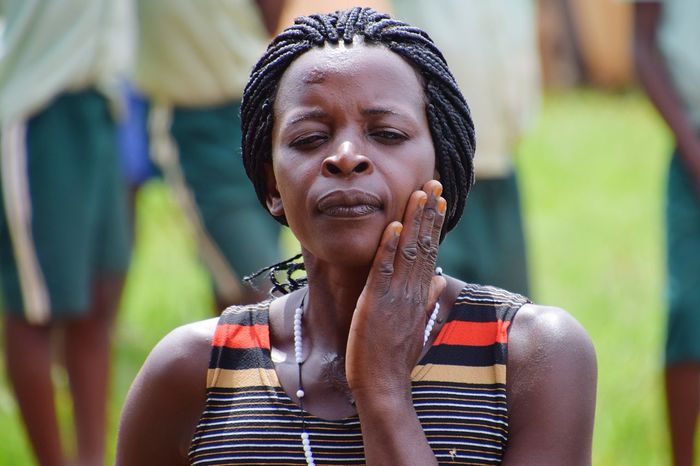 Burunga Uganda Young Women Portrait Beautiful Woman Women Headshot Front View Human Face Happiness This Is My Skin