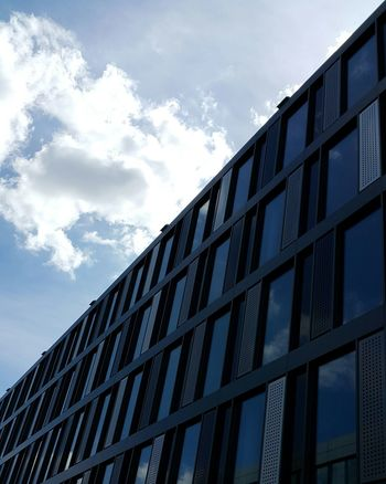 Architecture Built Structure Building Exterior Day No People Sky City Façade Window Pattern Ludwigshafen City Life Workplace Windows Modern Architecture Cityscape Blue Sky Cloud And Sky
