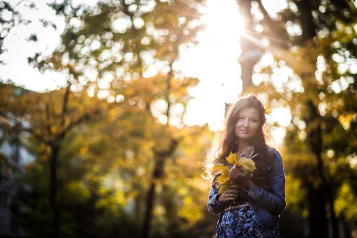 Autumn Colors Portrait Neture Sunshine Portrait Of A Friend