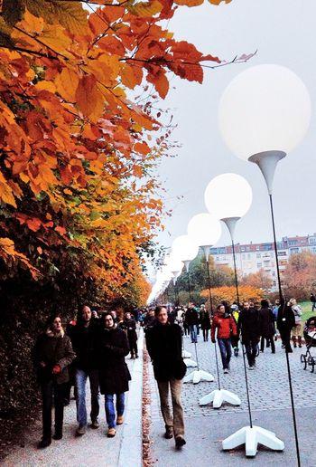 Fallofthewall25 Lichtgrenze People Watching Autumn Colors