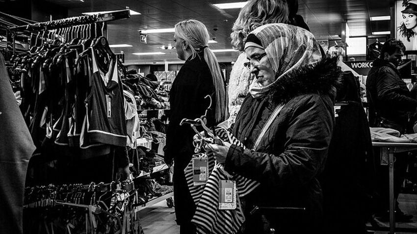 Streetphotography_bw Monochrome Clothes Shopping