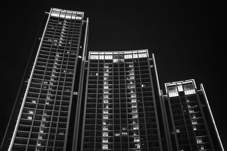 China Photos Tianjin Night Vision Buildings Travel Building Exterior Architecture Bnw_life Blackandwhite Built Structure Skyscraper Bnw Tall - High Low Angle View Modern Tower Office Building Development Building Story City Life Growth Travel Destinations Tall On The Boat Streamzoofamily The Architect - 2017 EyeEm Awards