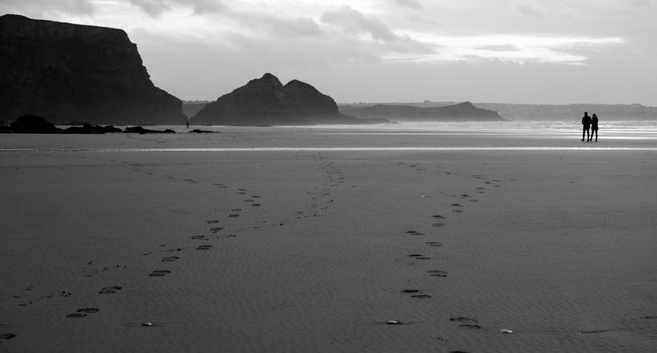 Walk with me to the sea. Beach Sea Sand Shore Nature Scenics Beauty In Nature Water Tranquility Outdoors Sky Fujifilm_xseries Watergate Bay Cornwall