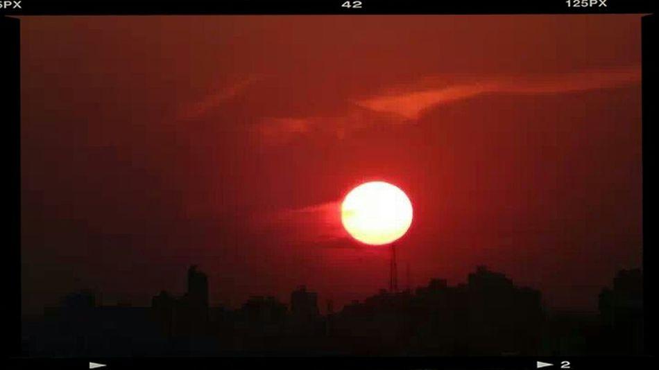no filter Sunset From My Balcony Orange Pocket Camera