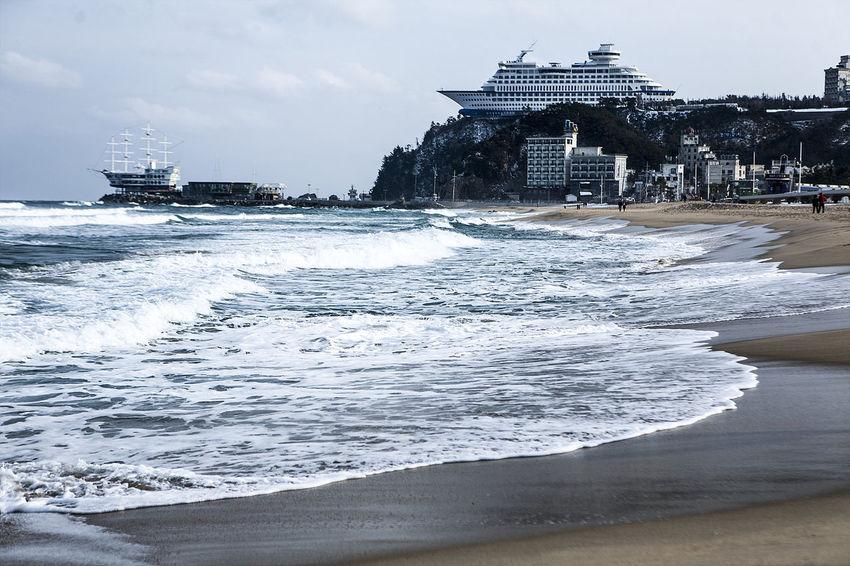 Jeongdongjin South Korea Korea Gangreung Winter Sea Beach