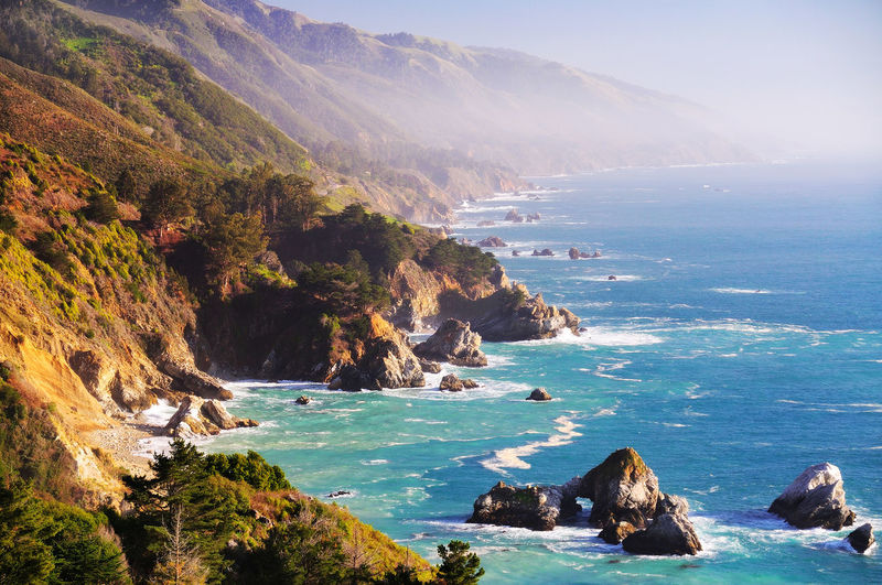 Highway 1 Highway 1 Ocean View Beauty In Nature Cliff Day Horizon Over Water Mountain Nature No People Ocean Outdoors Pacific Ocean Rock Rock - Object Rock Formation Scenics Sea Sky Tranquil Scene Tranquility Water Wave California Dreamin
