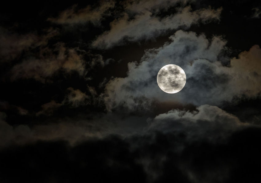 I missed out on the lunar eclipse but I still think I got a cool moonshot! Astronomy Beauty In Nature Cloud - Sky Full Moon Low Angle View Moon Moon Surface Nature Night No People Outdoors Planetary Moon Scenics Sky Space Stormy Stormy Sky