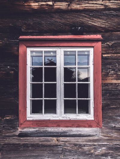 Old window of wooden farmhouse Monument Historical Historical Building Norwegian Old Building  Norway Old Building Exterior Old Building  White Color Farmhouse Old Buildings Window Architecture No People Building Exterior Day Wood - Material Built Structure Building Glass - Material Old Red Wall - Building Feature House Geometric Shape