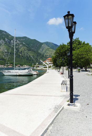 Adriatic Sea Beauty In Nature Croatia Day Mountain Nature Nautical Vessel No People Outdoors Sky Street Light Transportation Tree Water