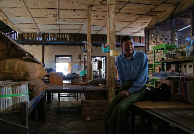 Traveling in the Shan state of Myanmar, Chinese Shop Owner Shan State Adult Chair Day Indoors  Myanmar Occupation One Man Only One Person Portrait Real People Standing Technology Working Workshop