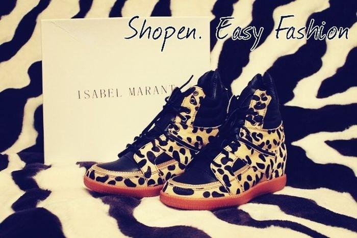 Sneakers Isabel Marant Leopard Shopenef