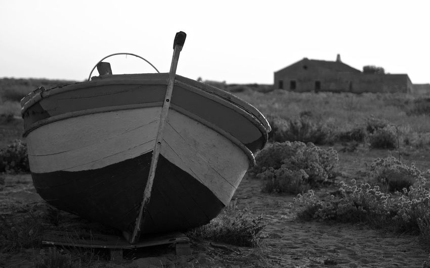 Sky Nature Transportation Focus On Foreground Land No People Abandoned Day Old Architecture Clear Sky Built Structure Nautical Vessel Field Outdoors Mode Of Transportation Metal Water Damaged Obsolete Deterioration