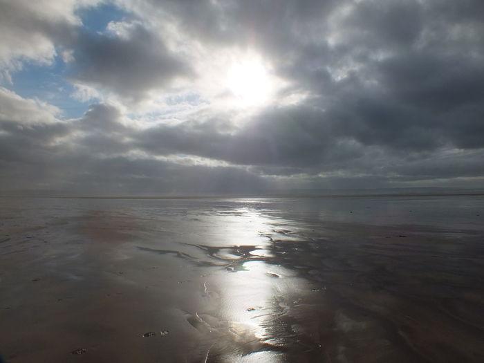 Braunton Burrows Beach Beauty In Nature Braunton Burrows Beach Cloud Cloud - Sky Cloudy Idyllic Nature Scenics Sea Shore Sky Tranquil Scene Tranquility Water