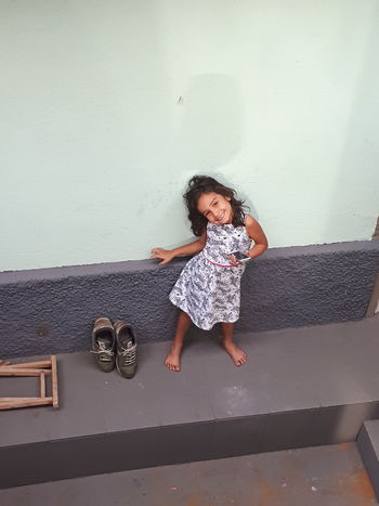 EyeEm Selects Child Full Length Childhood Girls Copy Space Jumping