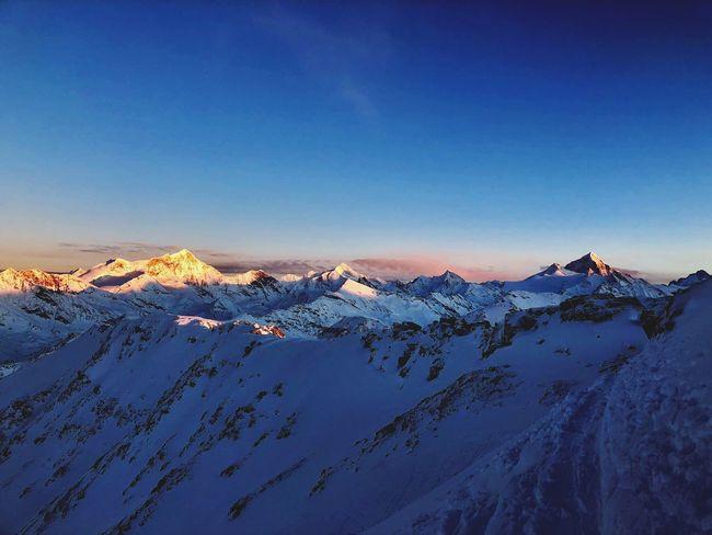 Swiss Alps Valais Valdanniviers Grimentz Zinal Sunset Snow Mountain Winter Nature Beauty In Nature Outdoors Go Higher The Great Outdoors - 2018 EyeEm Awards