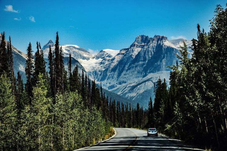 Mountain Beauty In Nature Road Scenics - Nature Transportation Nature Mountain Range Tranquil Scene Tranquility Landscape Snowcapped Mountain Outdoors Canada