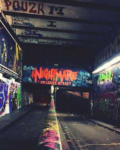 There's a leak on this street London Leake St Graffiti Urban Underground