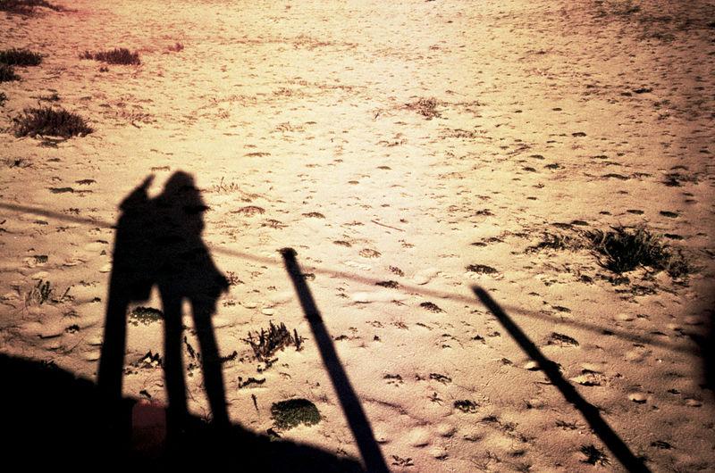 Analog Analogue Photography Portrait Sand Shadow Sun Testing Konica C35 for Sítio do Cano Amarelo