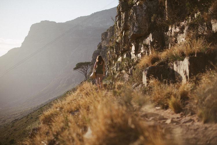 Panoramic shot of rocks on mountain