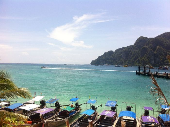 Koh Phiphi Krabi Thailand รักนะประเทศไทย Hanging Out Relaxing Enjoying Life Enjoying Weed  Enjoying The Sun Photo Goodmorning ♥