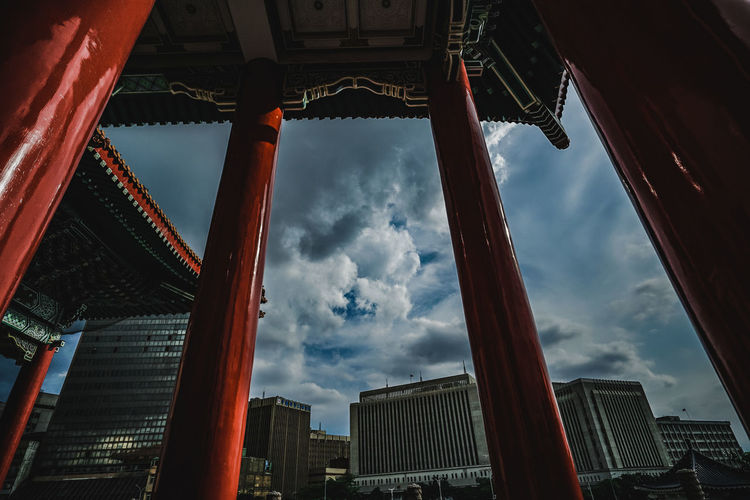 sky Red Red Color Culture And Tradition Building Special Somewhere I Remember Somewhere Dreaming Space Way Heaven Hope Light Light And Shadow Colors Colorful Nice Day Moments Beautiful Journey See What I See Nice View City Life Design Taiwan Taipei Taipei City Skyscraper Tall - High Skyline