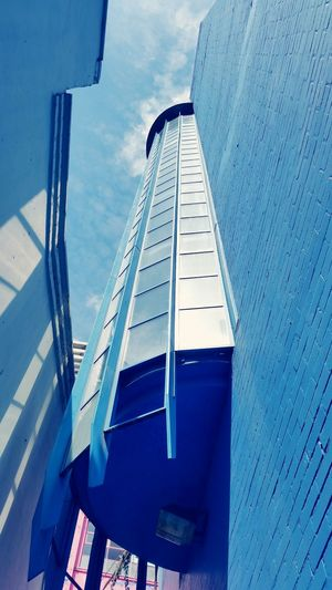 The Architect - 2017 EyeEm Awards Architecture Low Angle View Built Structure No People Building Exterior Sky Blue Day Outdoors Modern Close-up Custard Factory Birmingham Birmingham UK The Graphic City