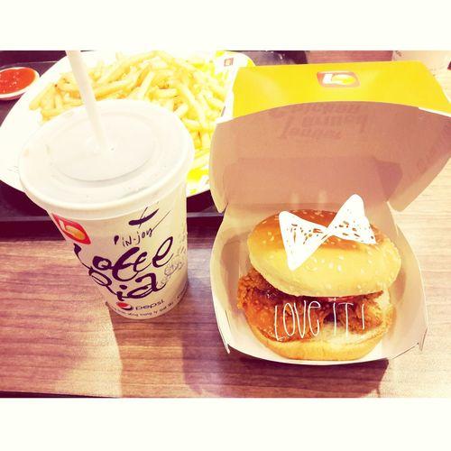 Hamburger Lotteria Chicken I Love Food!