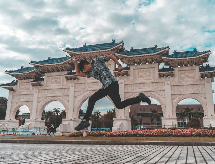 Architecture Built Structure Building Exterior Sky Cloud - Sky Day Real People Building City Nature Sculpture History The Past Representation Statue People Adult Travel Destinations Outdoors Jump Jumping