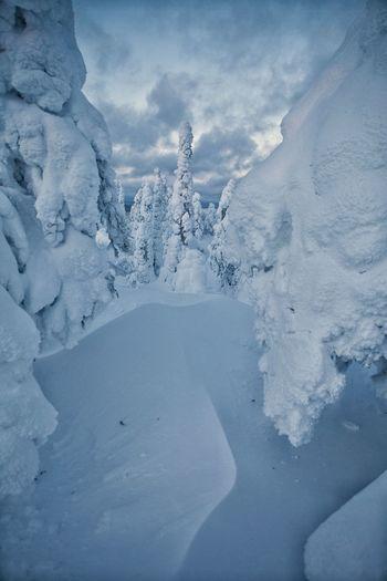 Kontainen Winter Finnish Nature Nature Landscape Mountain Frozen Snow