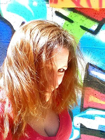 Let Your Hair Down Hi! That's Me Enjoying Life EyeEm Nature Lover Outdoor Photography Spring 2016 My World 🌍 TruthIsBeauty 💯 Pieces Of Me TruthIsBeauty Photographic Art 🌷 Woman Portrait Women Of EyeEm JustJennifer@TruthIsBeauty No Edit/no Filter Graffiti & Streetart Art Alley Long Hair Street Photography Eyeemphotography EyeEm Gallery EyeEm Best Shots - People + Portrait