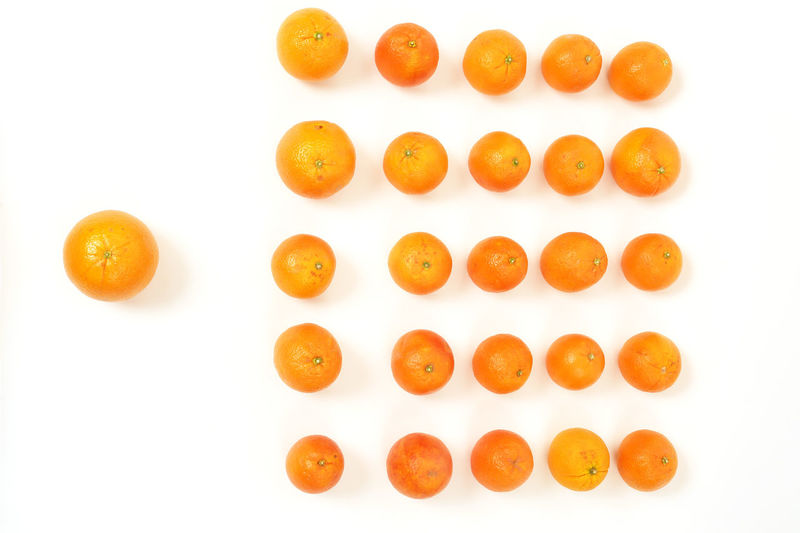 Leader Close-up Day Food Food And Drink Freshness Fruit Healthy Eating Masses No People Orange Color Oranges Ready-to-eat Studio Shot White Background