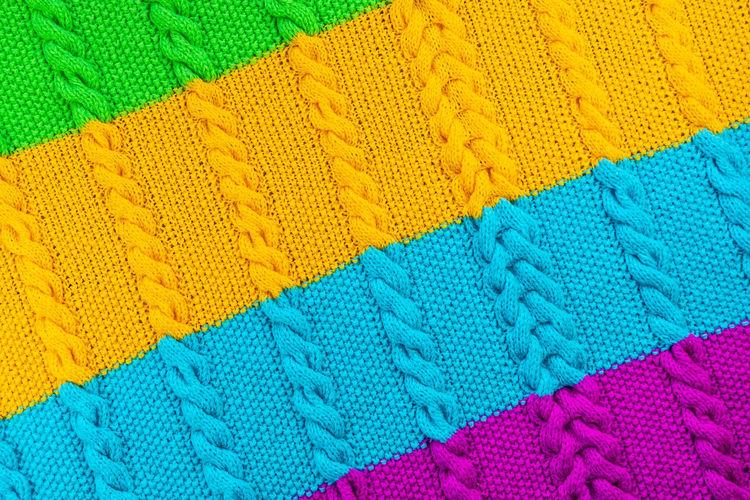 Full frame shot of multi colored sweater