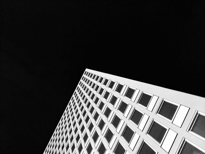 Architecture Building Exterior Built Structure Building Copy Space Low Angle View Window Modern Pattern Skyscraper Façade Abstract Blackandwhite