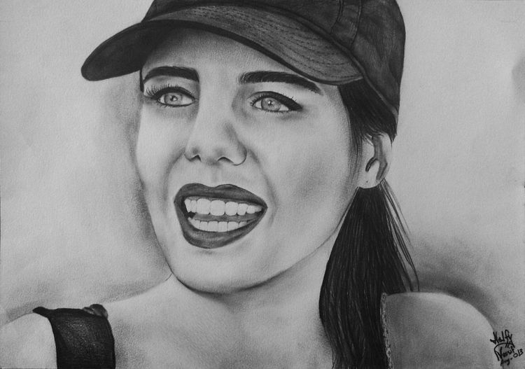 Portrait One Of My Drawings Pencil Drawing Enjoying Life