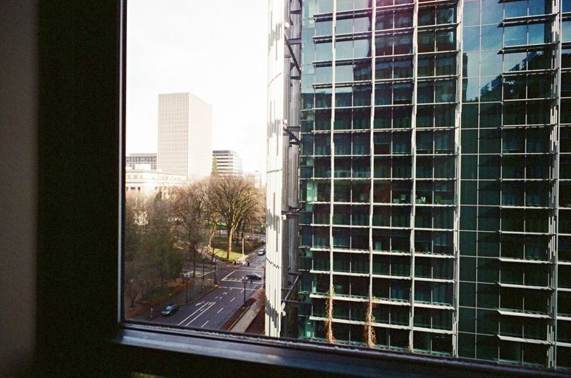 Building Exterior Architecture Window View From The Window... View From 8th Floor Skyscraper Cityscape Lomo F2 400 Leicacamera Film Portland, OR Russar Wide Lens Koduckgirl Leica M6