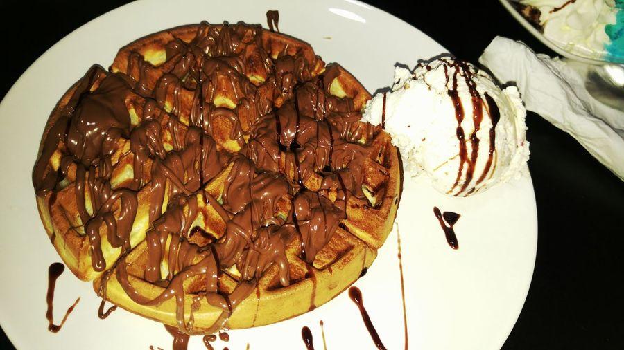 Nutella waffels