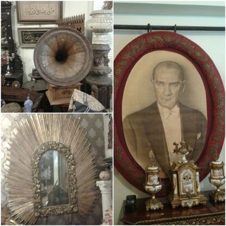 Antika Retro Atatürkportresi Gramafon tarihiayna