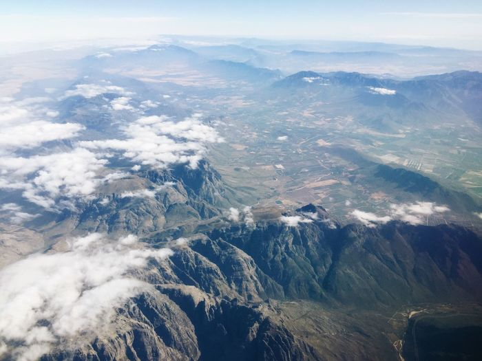 Airplane Views in Southern Africa. A quick iPhone snap. Early December, 2018. IPhone Copy Space Explore Adventure Aerial View Love Mountain Range Mountain Jonnynichayes South Africa Cape Town Countryside Scenics - Nature Beauty In Nature Aerial View Environment Mountain Tranquil Scene Mountain Range Tranquility Cloud - Sky Nature Day Landscape No People Sky High Angle View Land Outdoors Dramatic Landscape
