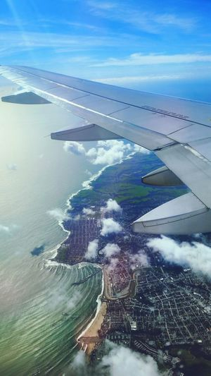 Flying High in the Sky , Coastline , Up In The Air , Beach , Flying , Sky And Clouds , Perspective , Adventure , Sea , Mobilephotography , PhonePhotography , Top View, AirPlane ✈ , Traveling, Pacific Coast , WestCoast, Transportation San Francisco CA Go Higher Focus On The Story #FREIHEITBERLIN The Traveler - 2018 EyeEm Awards
