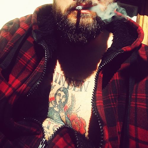 Beard Smoke Smoking Tattoo Tattooed Oldschool Oldschooltattoo Cigarette  Morning Reggel Szakáll